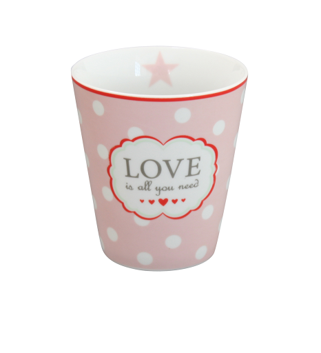 Mugg med text Love is all you need.